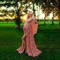 Длинные Сексуальные Платья для беременных для фотосъемки кружевное красивое платье для беременных с разрезом спереди платье для беременны...