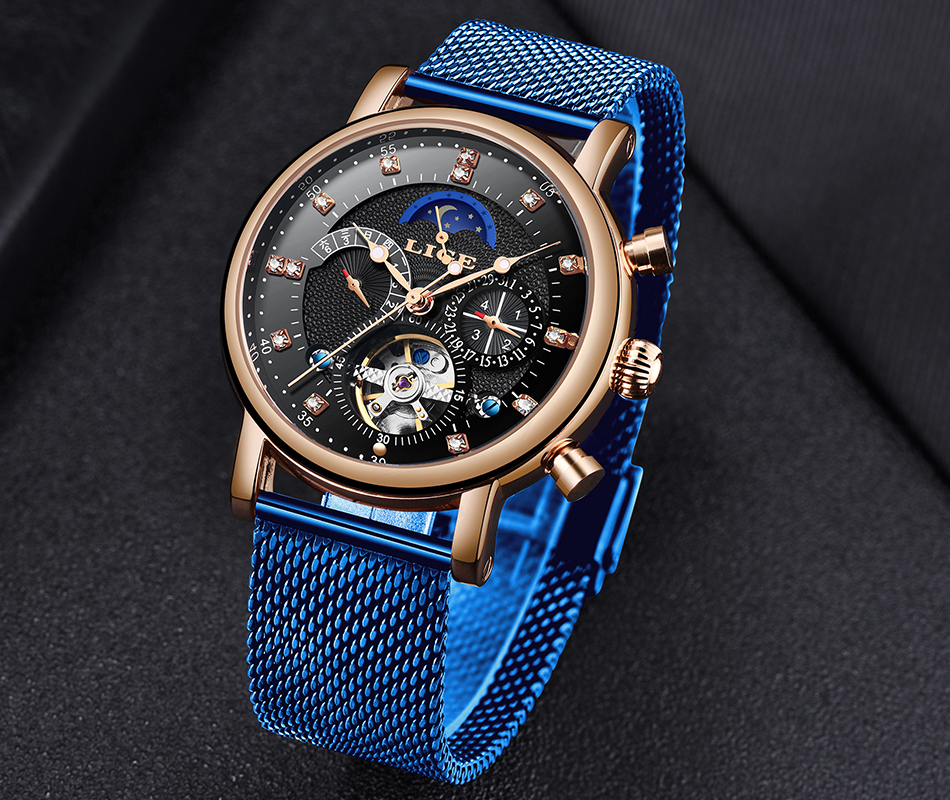 Had0ebfce94d2468cb586f91df51d79f1M LIGE Gift Mens Watches Brand Luxury Fashion Tourbillon Automatic Mechanical Watch Men Stainless Steel watch Relogio Masculino