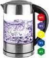 Электрический чайники контроль температуры стеклянный чайник 60-100 C, нержавеющая сталь, светодиодный свет 1,7 L, 2200W ForMe FKG-917