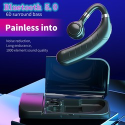 FC1 Wireless Bluetooth 5.0 Ear-hook Headset With Microphone Noise Reduction Waterproof Stereo Truck Driver Headset