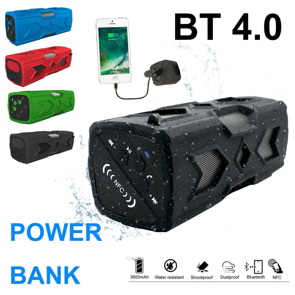 US Subwoofer Wireless Bluetooth 4.2 Speakers Portable Waterproof 3600mAh Battery