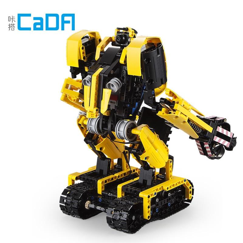 DIY CaDA 930PCS Building Blocks Technic for Kids C51026 Boulders Robot Excavator Blocks Two Variant Shapes Interactive Play Toy
