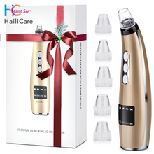 5 Suction Power Vacuum Blackhead Remover Pore Cleaner Acne Extractor Tool LCD Display Face Exfoliating Machine Beauty Device