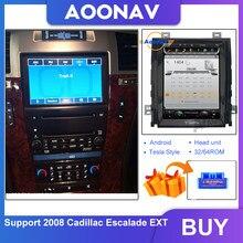 Lecteur multimédia stéréo avec GPS et écran tactile vertical HD IPS, pour Cadillac Escalade EXT Tesla, 2008