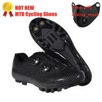 Novos sapatos de ciclismo respirável e à prova dwaterproof água sapatos de corrida de mountain bike mtb ciclismo auto bloqueio sapatos de bicicleta atlética Sapatos de ciclismo     -