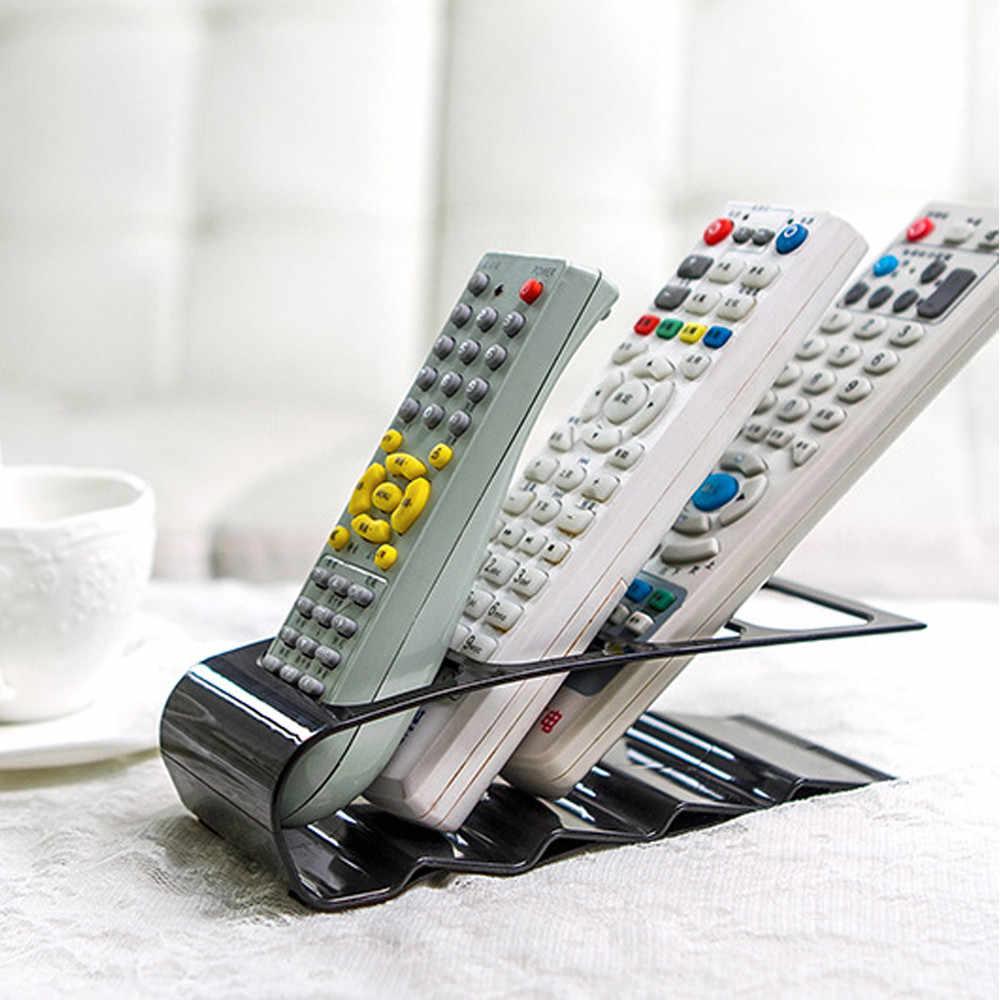 4 Fram Пластиковая Полка для хранения на дистанционном управлении, DVD tv, подставка для сотового телефона, держатель для хранения, для гостиной, настольный органайзер, стойка, инструмент