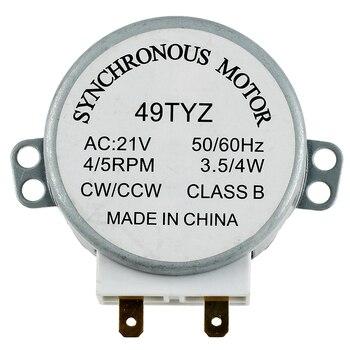 Мини-микроволновая печь Проигрыватель Синхронный двигатель 3 Вт 5/6 об/мин AC 21V 50/60Hz