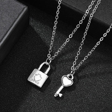цена на Lock Necklace Collar Chain Kettingen Nameplate Necklace Layered Pendant Necklaces Multi-style Jewelry Choker Wholesale Collier