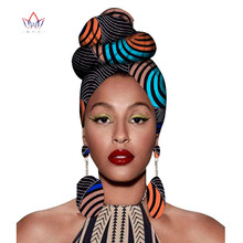 2020 アフリカheadtieプリントheadwrapアンカラワックス生地 100% 純粋な綿スカーフケンテスカーフとイヤリング 2 個Wyb56
