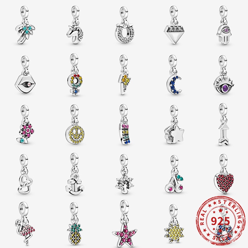 Real 925 Sterling Silver Charms My Butterfly Hanging Charm Beads Fit Original Pandora me Bracelets Women Diy jewelry|Beads| - AliExpress
