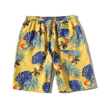 Hawaiian Beach Short Hip Hop Baggy Shorts Men Streetwear Tid Loose Casual Floral Knee Length Seaside Resort цена 2017