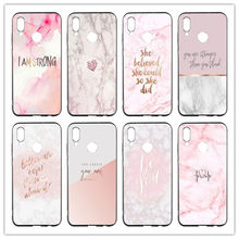 70 AD Chic Pink Marble Case For Huawei p smart P8 P10 P9 lite mini P20 Lite Plus 2017 P30 Pro Mate 8 9 TPU Cover(China)