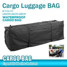 Oxford Thicken Car Top Roof luggage Waterproof Rooftop Luggage Carrier Travel Bag Trunk SUV Cargo 140x45x48cm Luggage Roof Bag