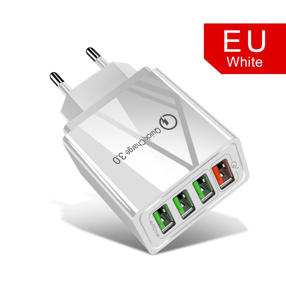 4 Port EU White