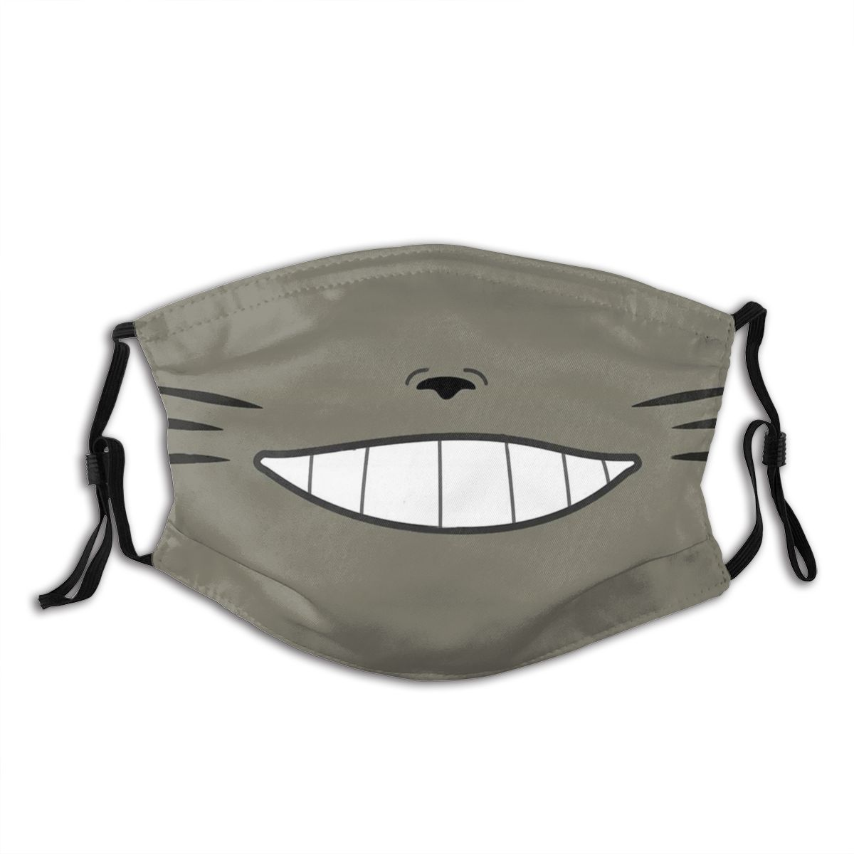 Totoro Smiling Non-Disposable Mouth Face Mask Anti Bacterial Dustproof Mask With Filters Protection Mask Respirator Mouth Muffle