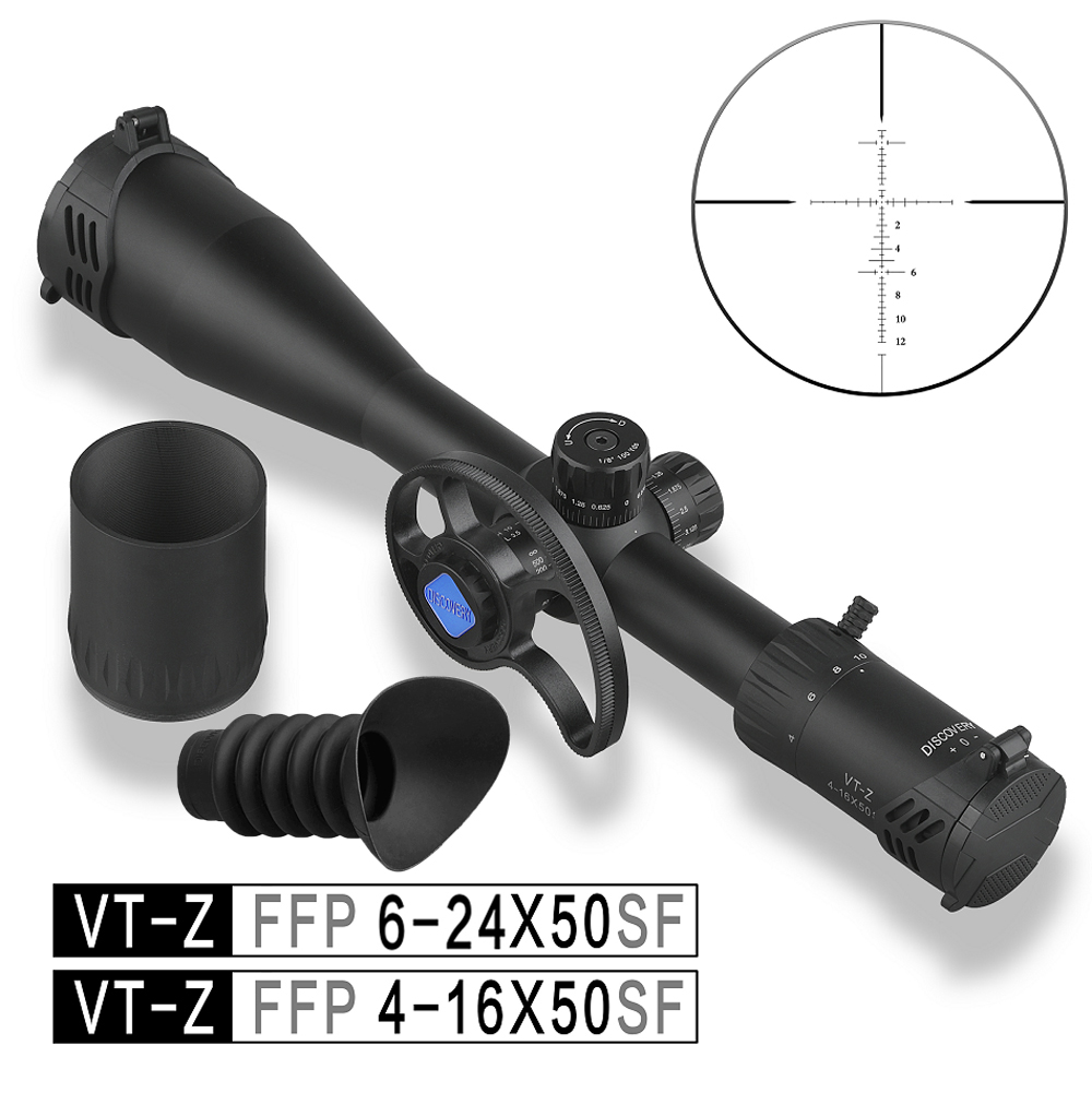 Discovery FFP 4-16X50 6-24 Airsoft Sight Tactical Hunting Scope First Focal Plane With New Involute Side Parallax Wheel