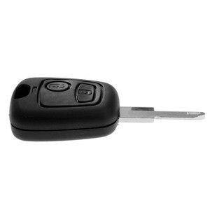 Image 2 - 2 botões remoto caso chave escudo forpeugeot 106 206 306 405 em branco substituição chave fob caso do escudo capas
