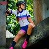 Kafitt camisa de ciclismo das mulheres macacão pouco macaco ciclismo ciclismo ciclismo manga curta camisa terno esportes uniforme 10