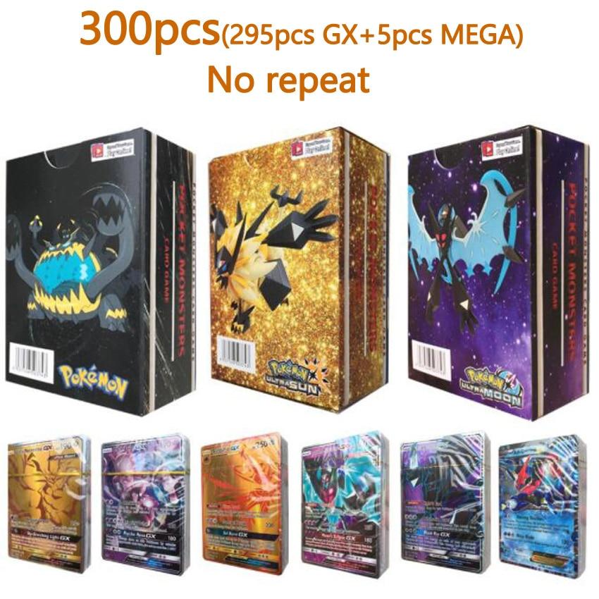 100/200/300 Pcs GX MEGA Shining TAKARA TOMY Cards Game Pokemon Battle Carte Trading Cards Game Children Toy