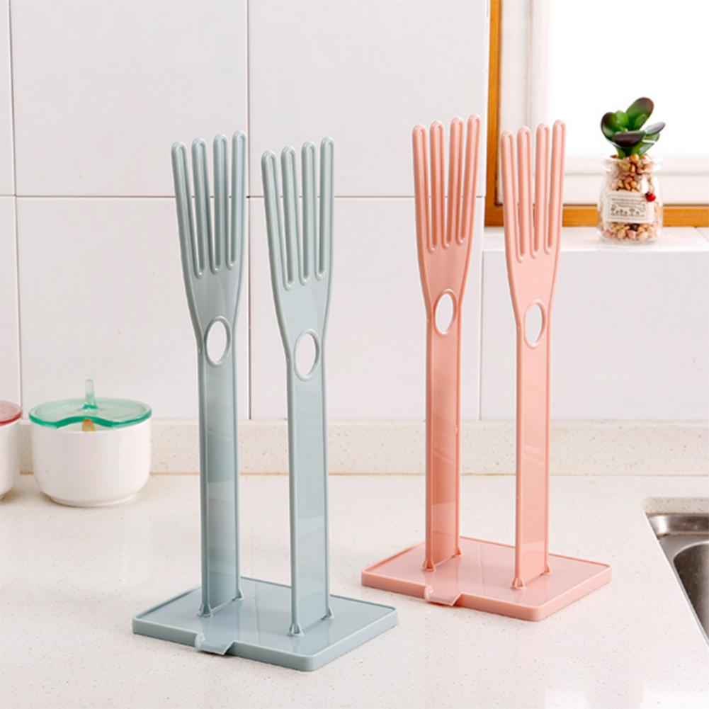 Kitchen Cleaning Tool Kitchen Glove Stand Holder Rubber Dryer Rack Kitchen Sink Accessories Towel Holder