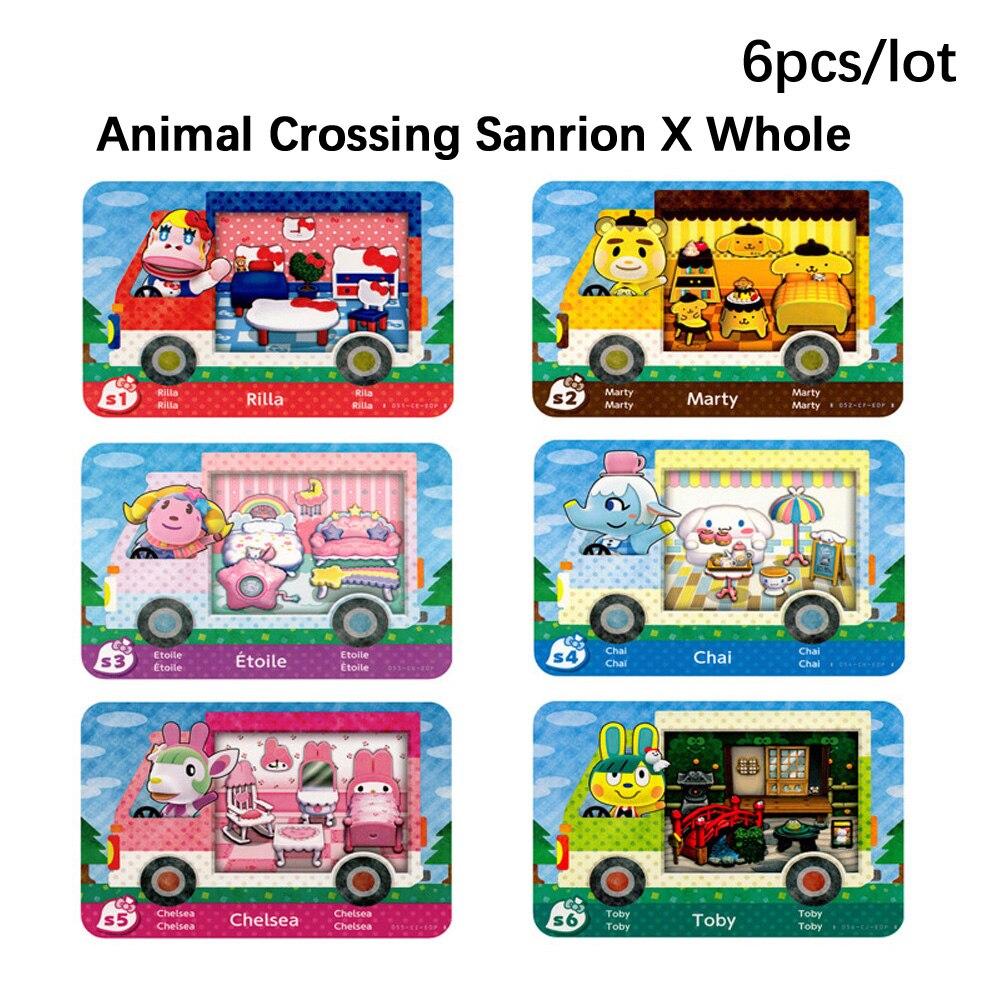 Sanrioed животных пересечения Amxxbo карты Sanrioed X весь набор-6 шт./лот S1-S6 NFC карта новый лист карты для NS игровой коммутатор