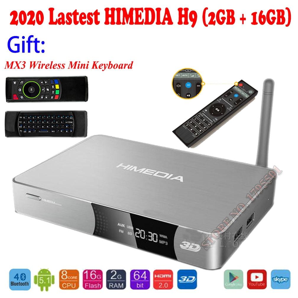 2020 Verbesserte HIMEDIA H9 4K 3D UHD Android TV Box 2GB 16GB Octa Core Smart Home TV 2,4 GHz 5GHz Dual WiFi Netzwerk Media Player