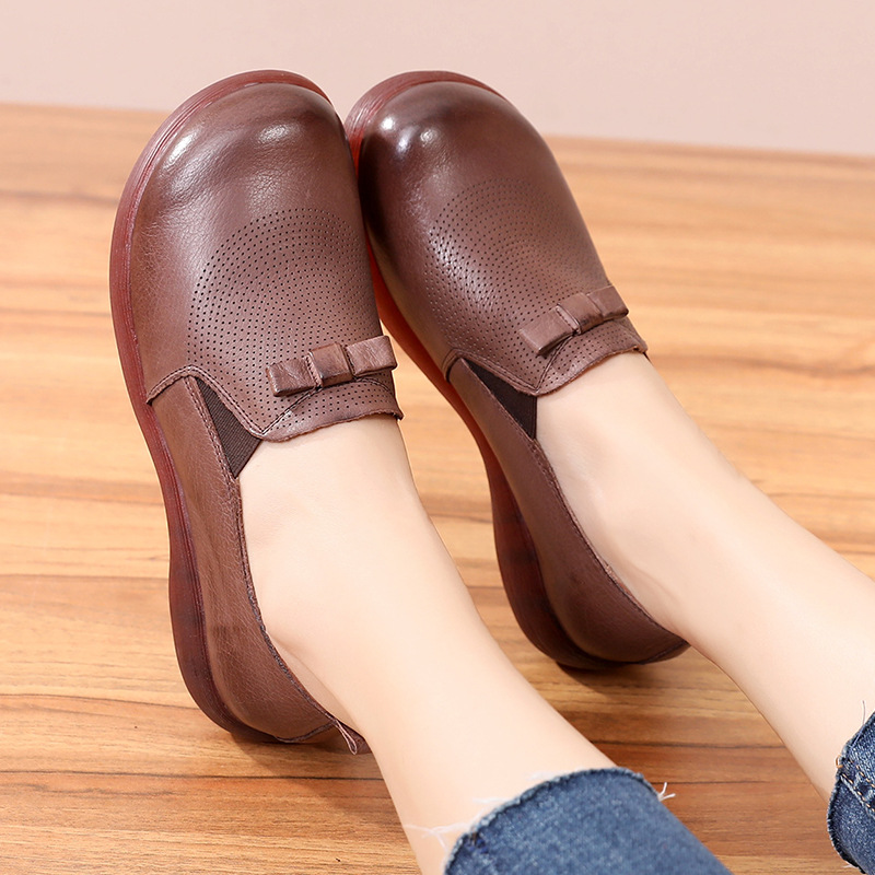 SWONCO chaussures plates femmes 2019 mocassins femmes mocassins femmes en cuir véritable dame noir chaussures plates Zapatos Oxford Mujer printemps
