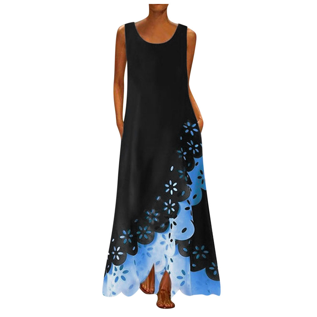 Had1035922bd7421a9b62e438f5e92b1eJ - MAXIORILL maxi dress S-5XL woman summer Sleeveless Print Round Neck beach dress