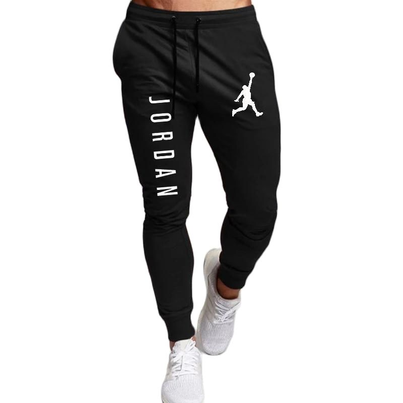 2021 Casual Pants Men Joggers Sweatpants Solid Color Trousers Fitness Sportswear Jogger Track Pant Plus Size S-2XL Summer Spring