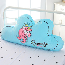 Unicorn Cloud Pillow Backrest Christmas INS Doll Baby Kids Comforting Gift Toys Sleeping Stuffed Plush Cushion Birthday