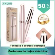 ANLAN, электрический триммер для бровей, макияж, безболезненный эпилятор для бровей, мини бритва, бритвы, портативное средство для удаления волос на лице, женский эпилятор