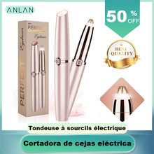 ANLAN Electric Eyebrow Trimmer Makeup Painless Eye Brow Epilator Mini Shaver Raz