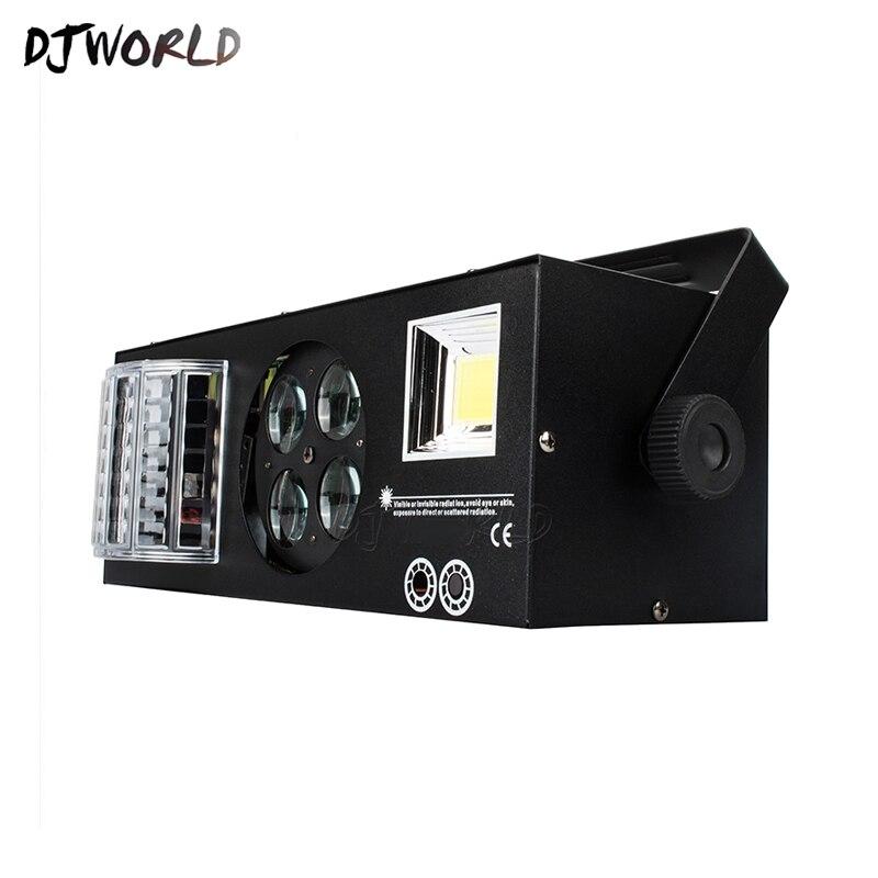 Bonne qualité LED Laser stroboscope 4in1 DMX512 effet de scène lumières bon pour DJ Disco fête d'anniversaire décoration de mariage Clubs et Bar