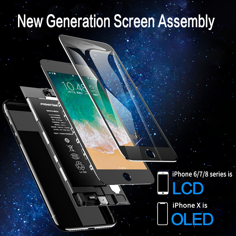 SIYAA LCD Display For iPhone X 6 6S 7 8 5 5S Plus OLED Screen Pantalla For iPhone XR XS MAX 3D Touch AAAA Digitizer Assembly 2