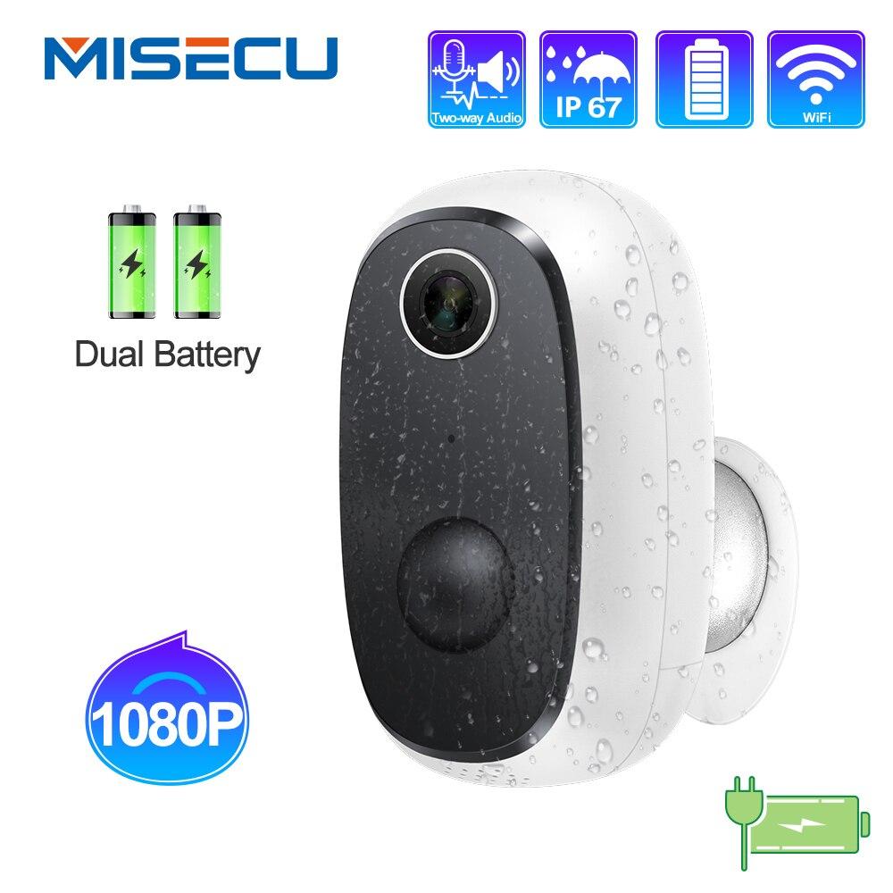 MISECU 1080P kamera WiFi akumulator zasilany z baterii bezprzewodowa kamera IP bezpieczeństwa PIR wykrywanie ruchu wodoodporny widok aplikacji na zewnątrz
