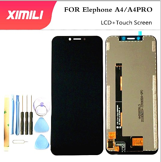 "XIMILIFor Elephone A4 LCD Display and Touch Screen 5.85"" Mobile Phone Accessories For Elephone A4 LCD +Tools And Adhesive"