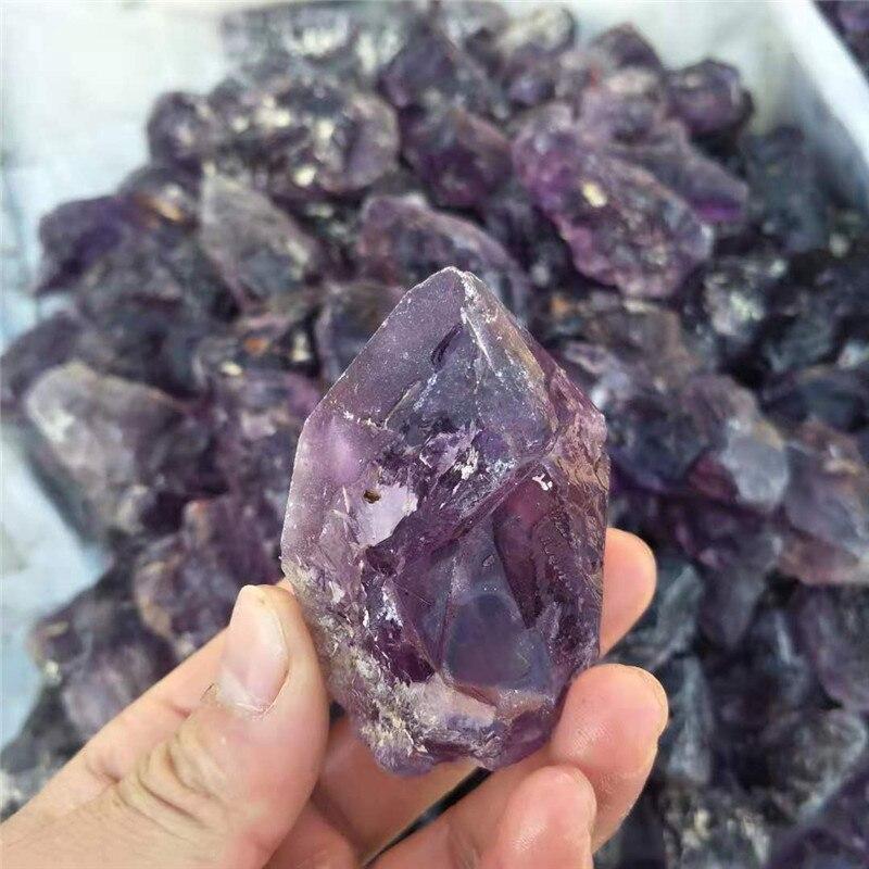1 pc, 80g-100g cristal naturel brut Quartz graviers améthyste cristal pierres dégringolées baguette pour 7 Chakra guérison - 2
