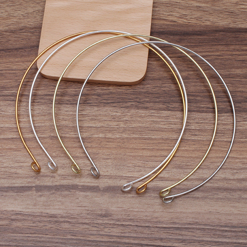 20 PCS <font><b>3</b></font> Colors Plated Metal Iron Choker Collar Base Neck Strap Necklace Headwear Jewelry Setting For Women Jewelry Making image