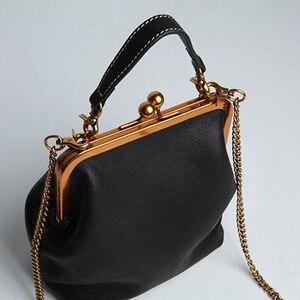 Image 2 - คุณภาพสูงPUหนังผู้หญิงกระเป๋าถือแฟชั่นVintageออกแบบกระเป๋ากระเป๋าโซ่ไหล่Crossbodyกระเป๋า