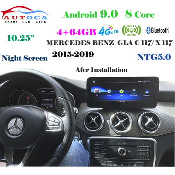4G 10.25 Android 10 Display For MERCEDES BENZ GLA X156 2016-2019 Navigation Radio Stereo Dash Multimedia Player Carply image