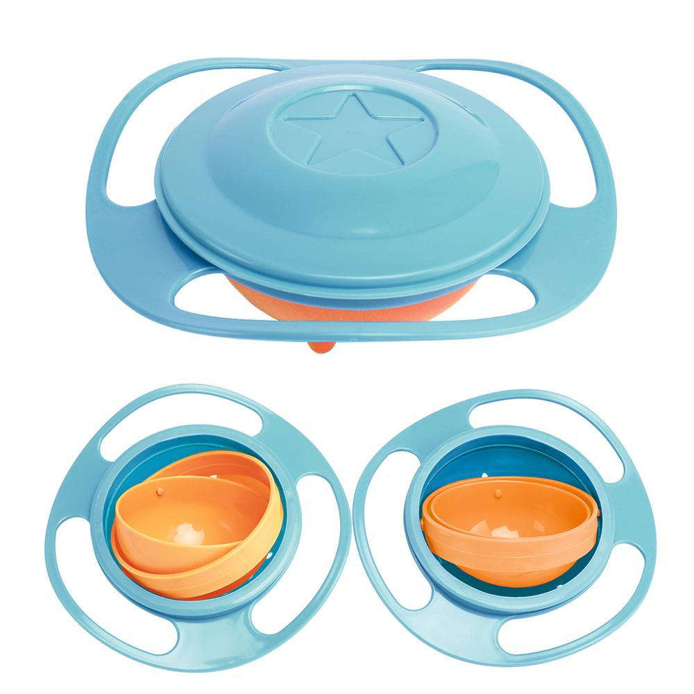 New Hot Design Universal Gyro Bowl Dishes Anti Spill Bowl Smooth 360 Degrees Rotation Gyroscopic Bowl For Baby Kids