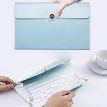 Clip Folders Document-Clip Binder 8-Pockets Organ-Bag Filing Multi-Function