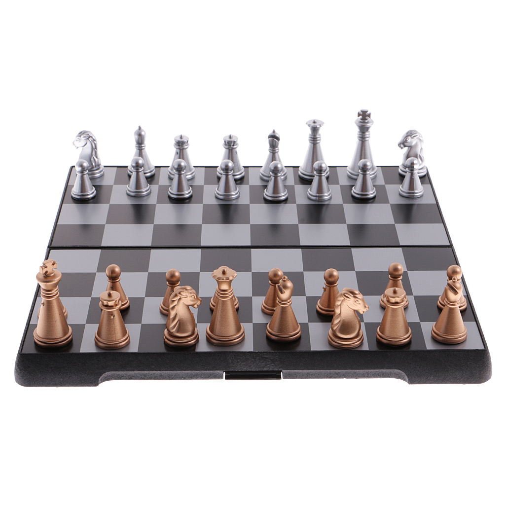 Magnetic Travel Chess Set With Folding Chess Board & Chess Pieces Educational Toys Durable