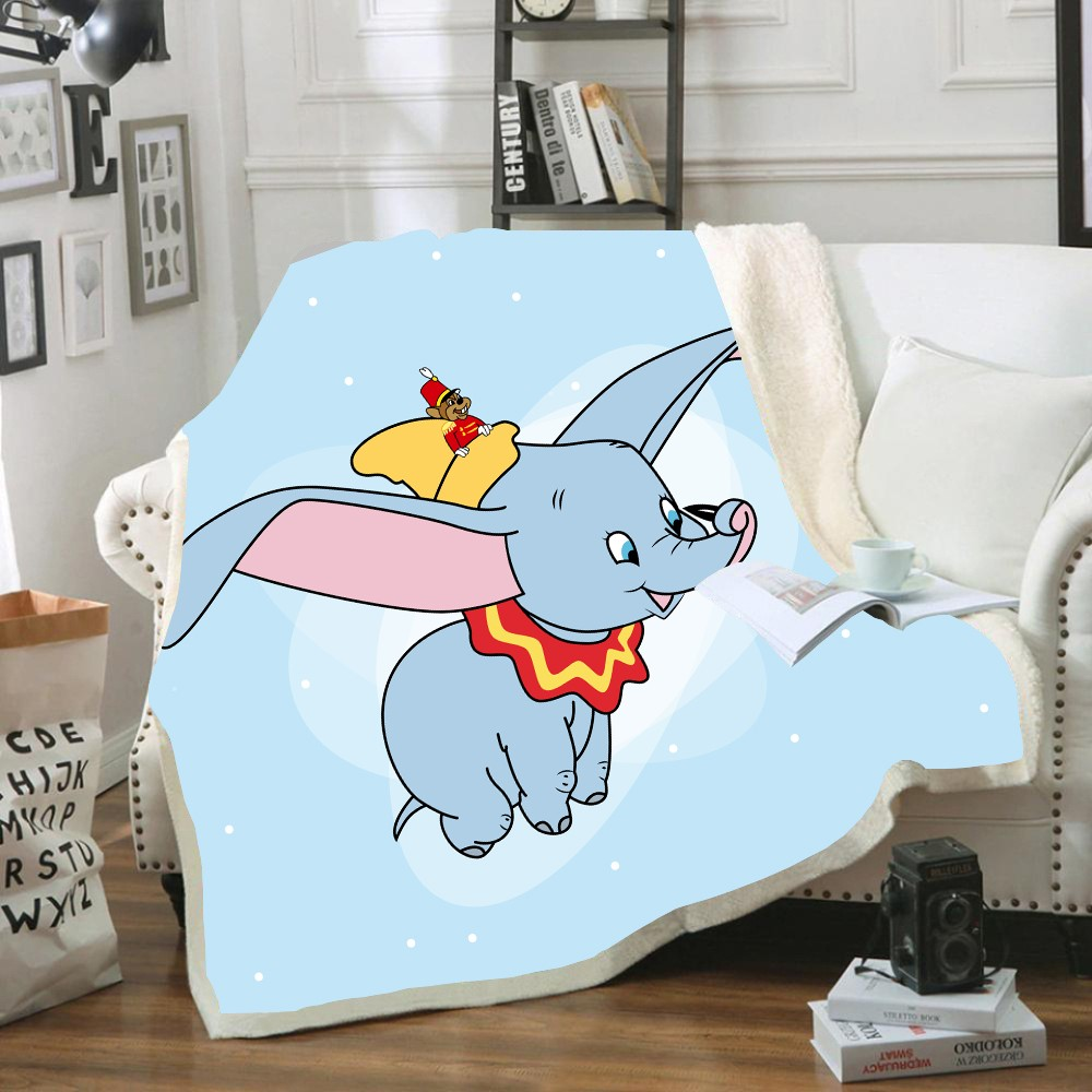 Disney Dumbo Flying Winnie Pet Tigger Baby Plush Blanket Throw Sofa Bed Cover Twin Bedding For Kids Boys Girls Children Gifts