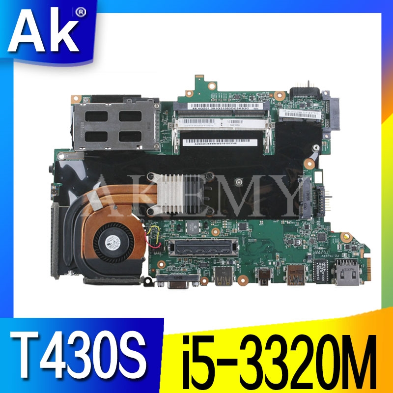 High quality For Thinkpad T430S T430SI Laptop motherboard 04X3687 With SR0MY <font><b>I5</b></font>-<font><b>3320M</b></font> CPU HM76 100% working well image
