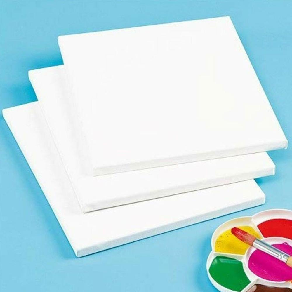 1Pc Cotton Wood Frame For Canvas Oil Painting Professional White Blank Square Artist Canvas Framed For Primed Oil Acrylic Paint