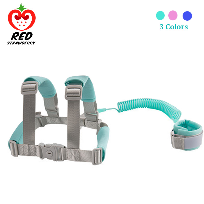 2 In 1 Toddler Anti Lost Safety Wrist Link Add Lock Kids Walking Shoulder Strap Wristband Baby Harness Safety Leash