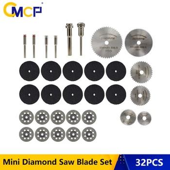32pcs Diamond Saw Blade Set HSS Mini Circular Saw Blade For Dremel Rotary Tools Resin Cut-Off Wheels Diamond Cutting Discs