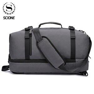 Мужская Дорожная сумка Scione, большая нейлоновая сумка для ручного багажа, Водонепроницаемые многофункциональные кубики для путешествий