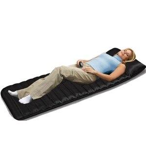 1 PC wibracje elektryczne masaż masaż podkład na materac 9 PC silnik wibracyjny i dalekiej ogrzewanie na podczerwień masażer poduszka do masażu